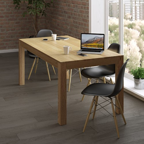 work table made of solid wood