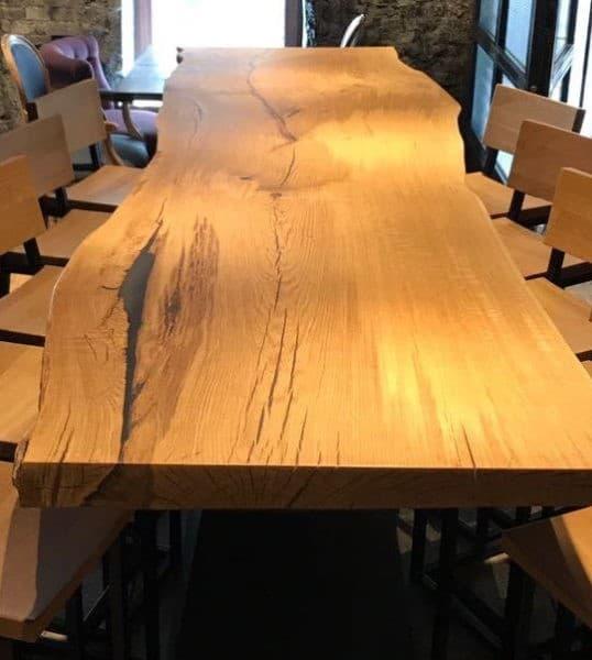 California Oak Bar Table