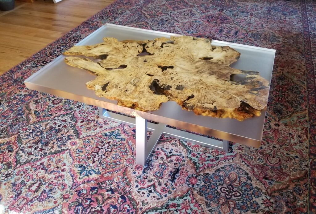 Clear Casted Coffee Table