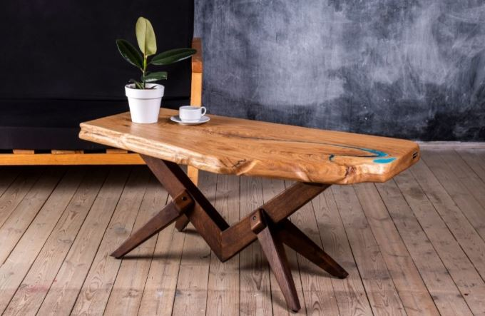 Oak Slab Coffee Table [San Francisco Bay Area]