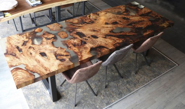 Solid Wood Contemporary Conference Table