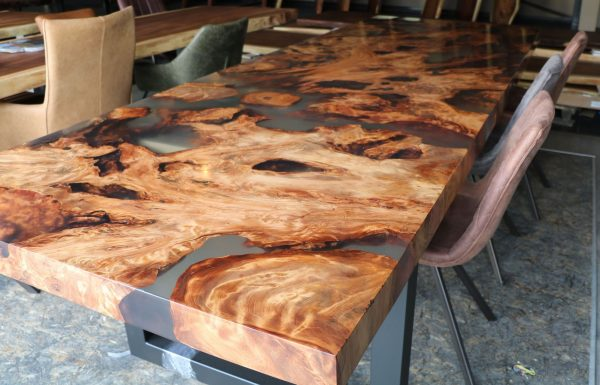timeless look of solid wood table