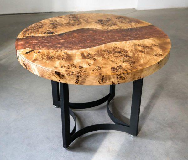 Amber Poplar Epoxy Round Table