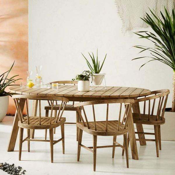 Outdoor Dining Set - Table & Four Chairs