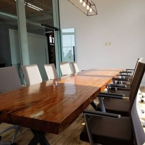 African Cherry Live Edge Conference Table