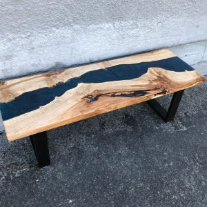 Maple and Epoxy Style Bench