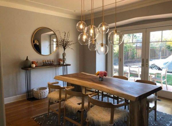 Oak Modern Wood Dining Table