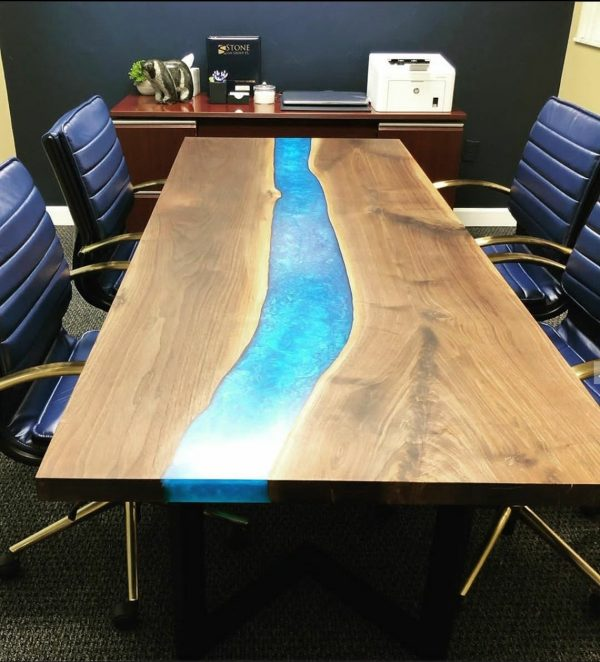Epoxy River Wood Conference Table
