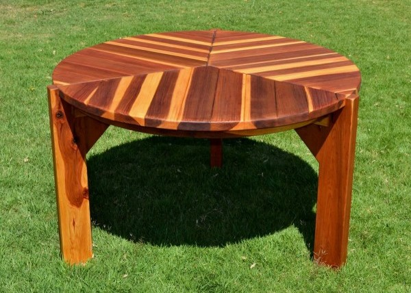 Outdoor Round Dinner Wood Table