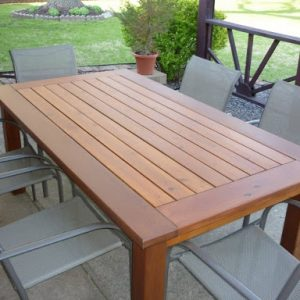 Modern Outdoor Wood Table [Bay Area Collection 2021]