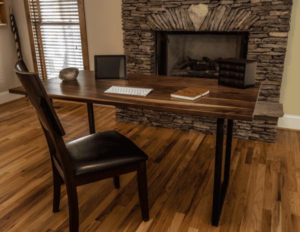 Walnut Wood Modern Walnut Desk [Bay Area Collection]