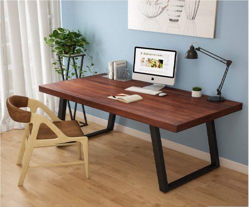 Solid Wood Industrial Computer Desk, Bay Area, California