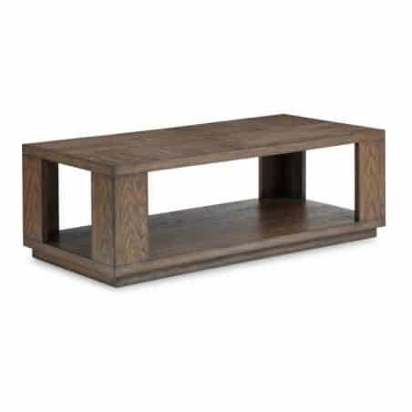 Flexsteel Rectangular Outdoor Cocktail Table Oak