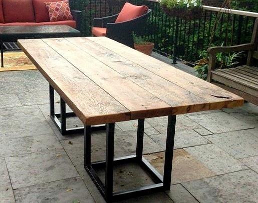 Oak Patio Dining Outdoor Modern Interior Design Table