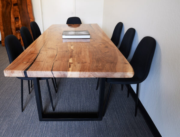 Black Walnut Dining Table with Stitches, Bay Area, California