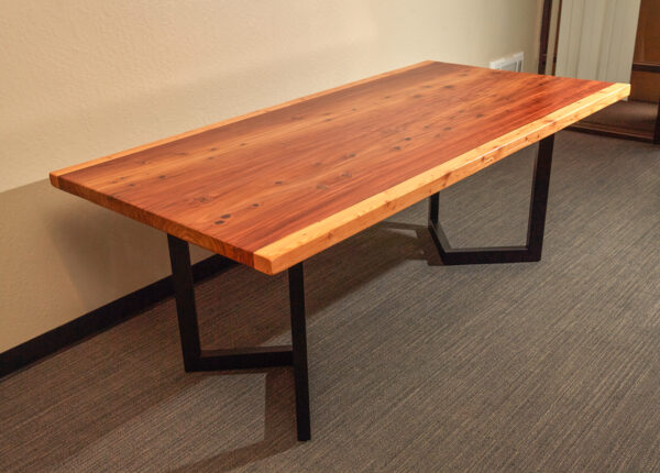 Natural Redwood Conference Dining Table, California, USA