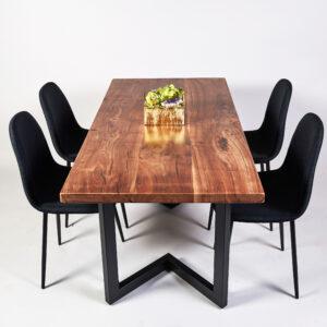 Black Walnut Live Edge Dining Table, California, USA